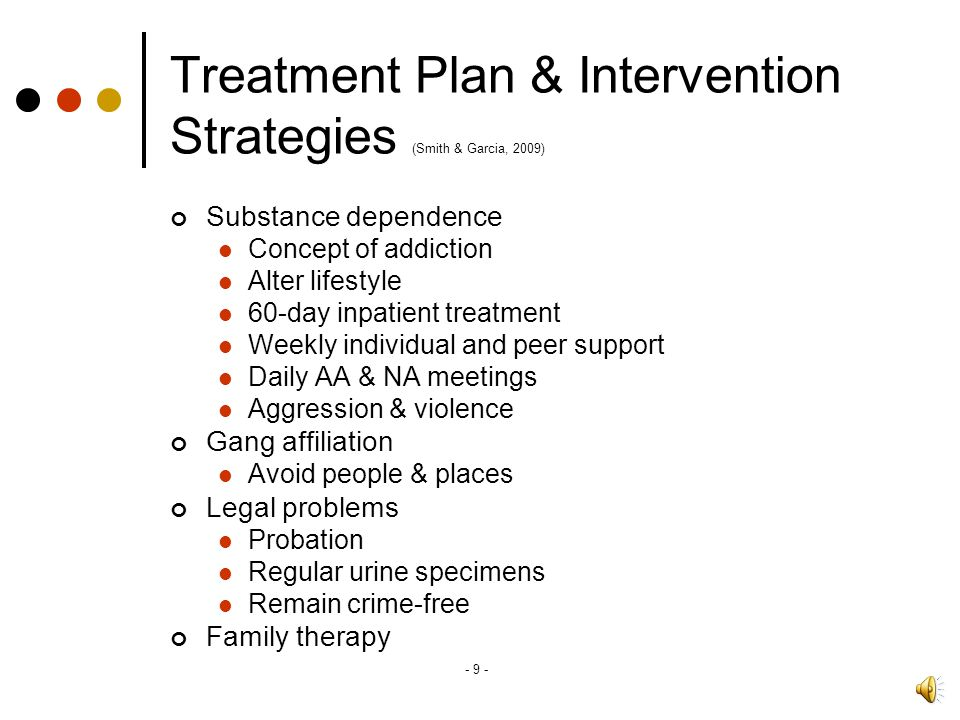 Treatment Plan & Intervention Strategies (Smith & Garcia, 2009)