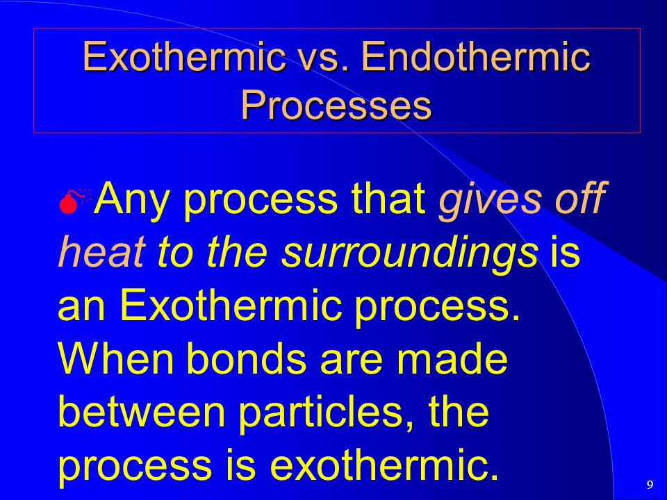 Exothermic vs. Endothermic Processes