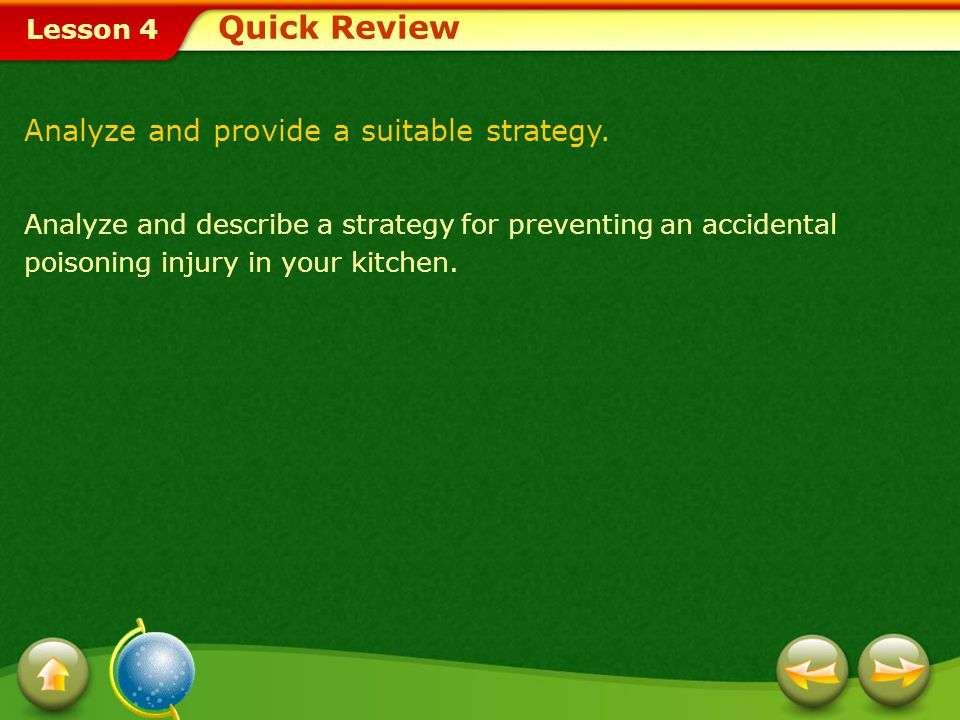 Quick Review Analyze and provide a suitable strategy.