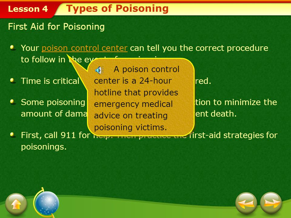Types of Poisoning First Aid for Poisoning