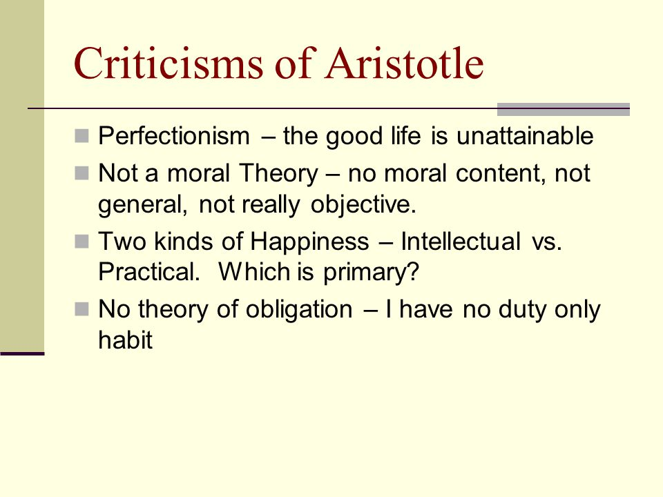 Criticisms of Aristotle