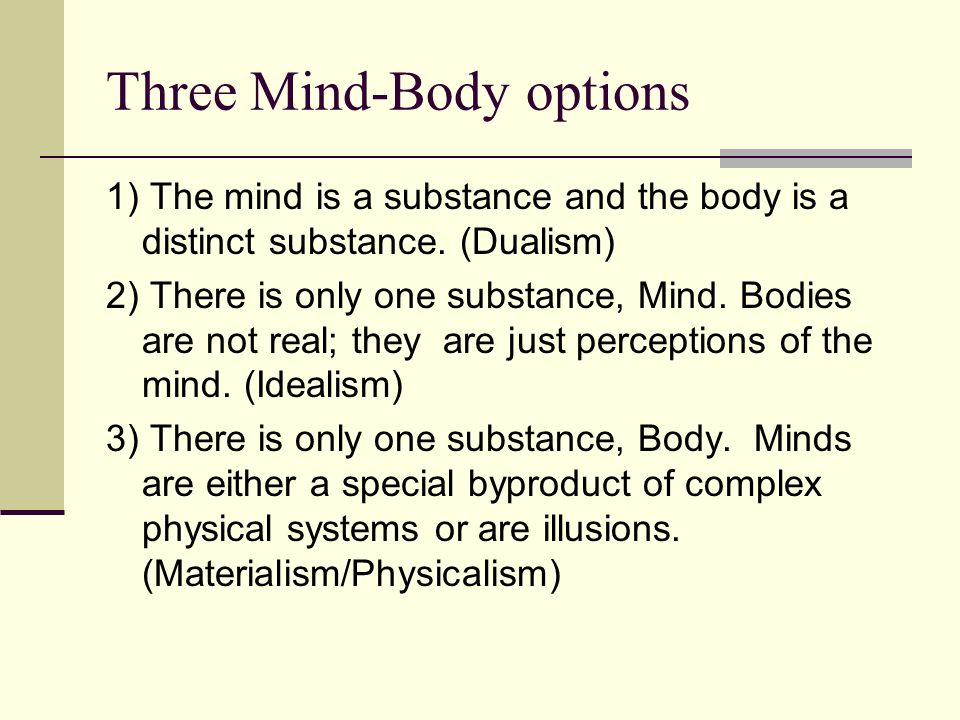 Three Mind-Body options