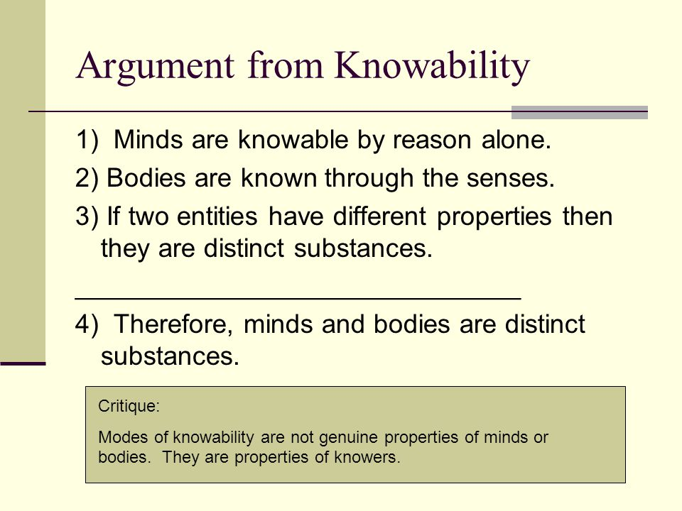 Argument from Knowability