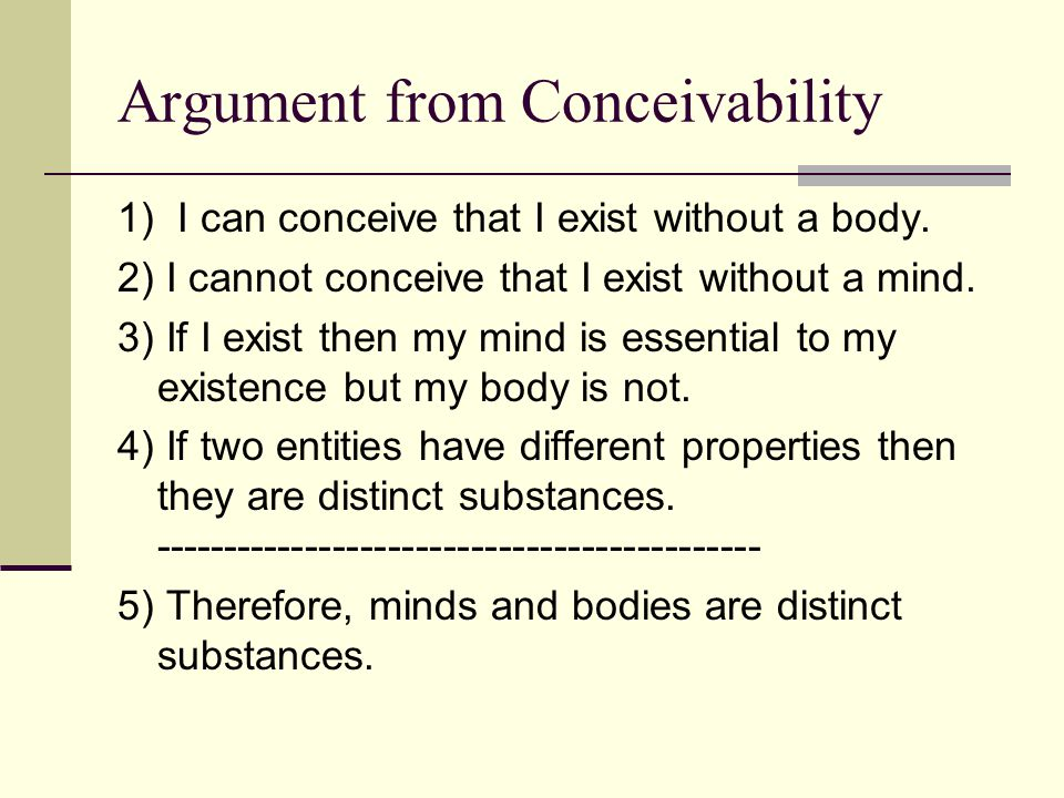 Argument from Conceivability