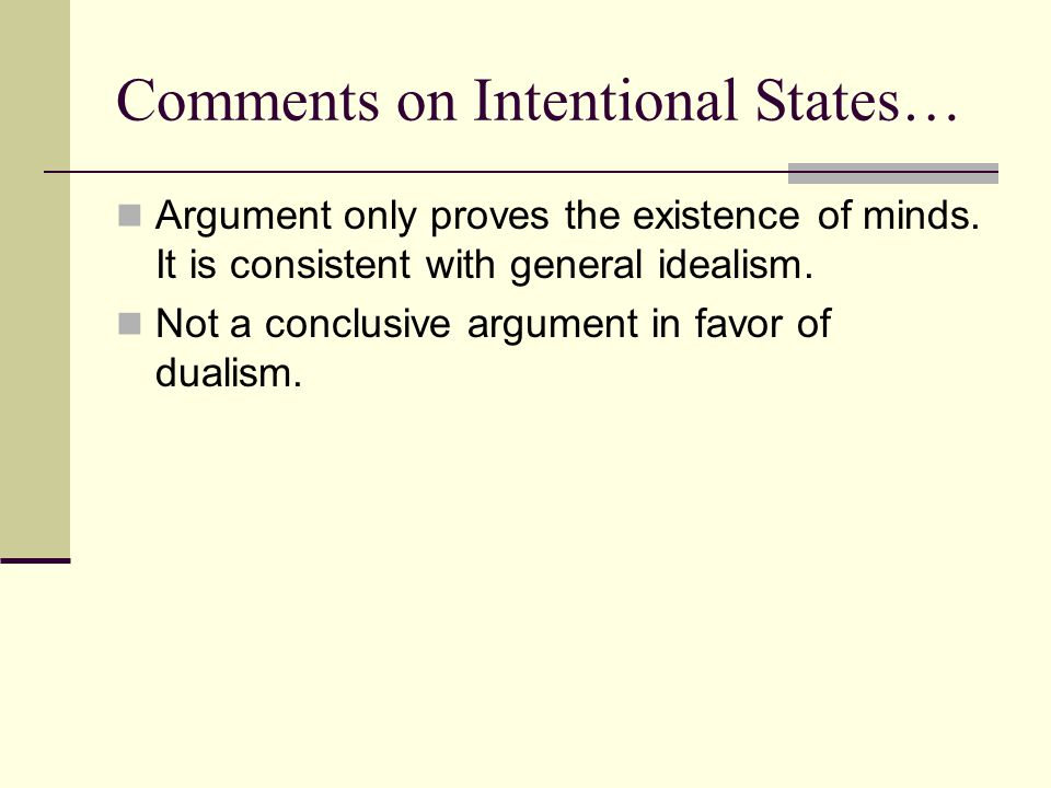 Comments on Intentional States…