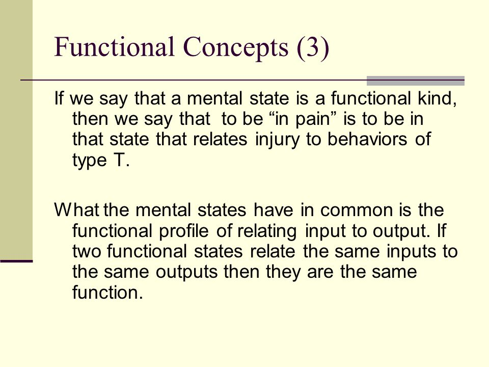 Functional Concepts (3)
