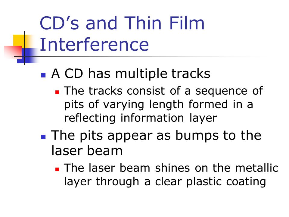 CD's and Thin Film Interference