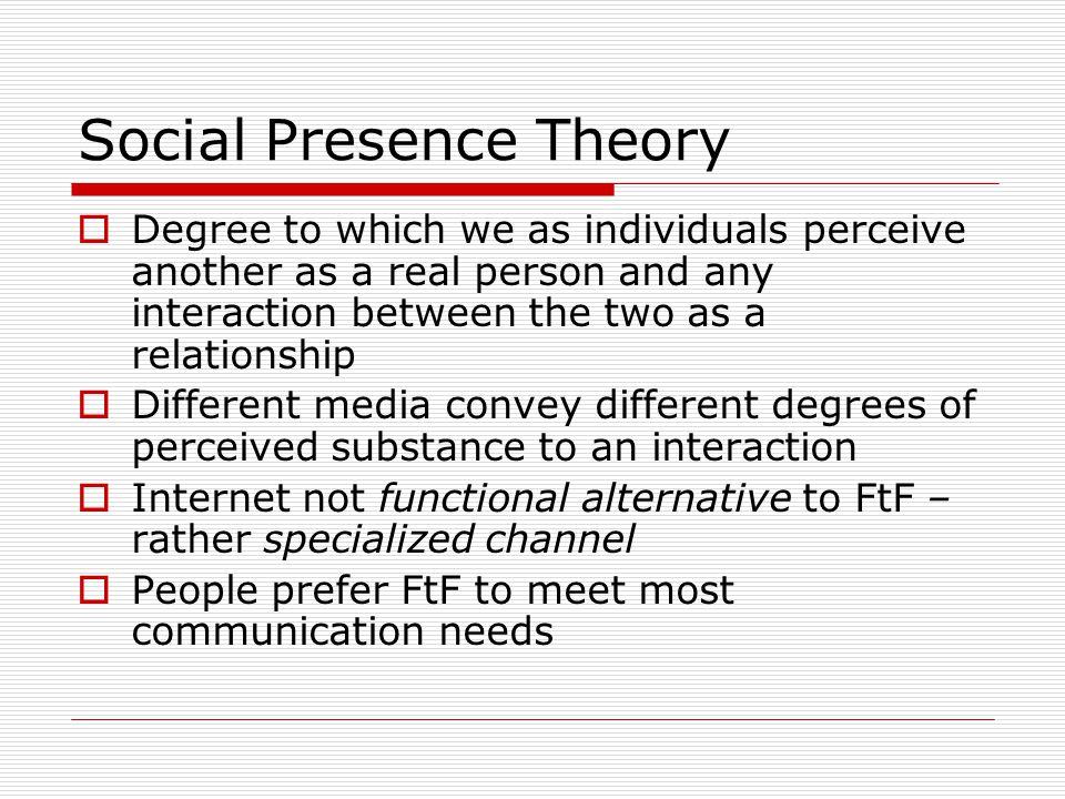 Social Presence Theory