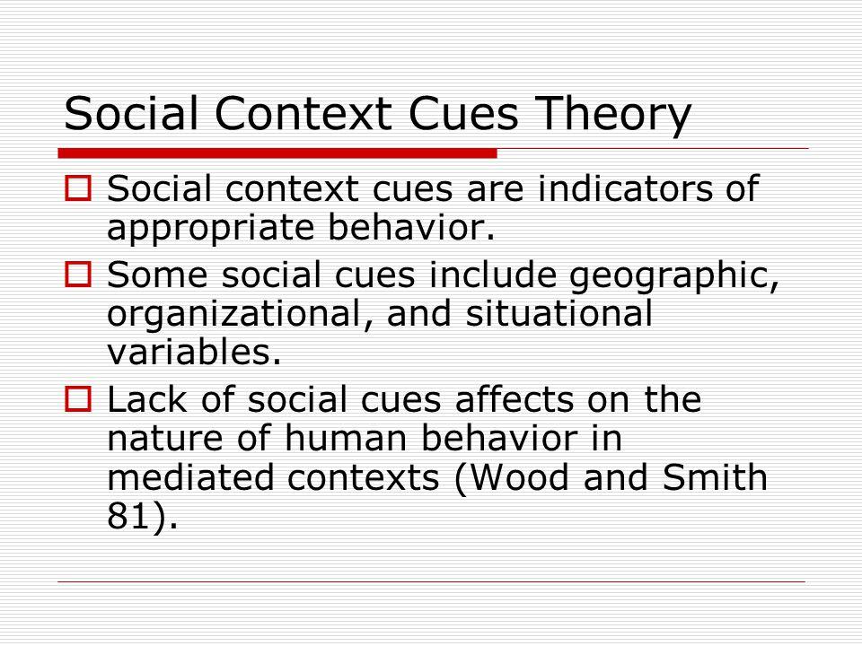 Social Context Cues Theory