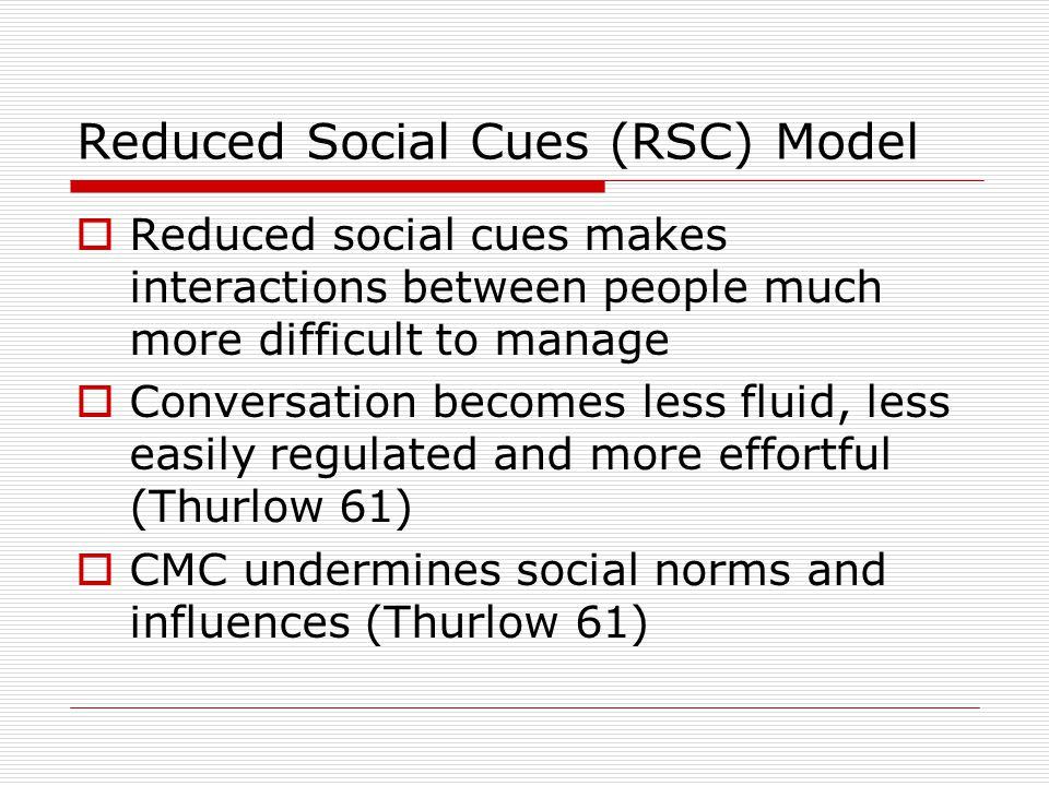 Reduced Social Cues (RSC) Model