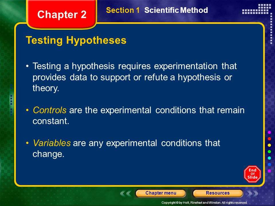 Chapter 2 Testing Hypotheses