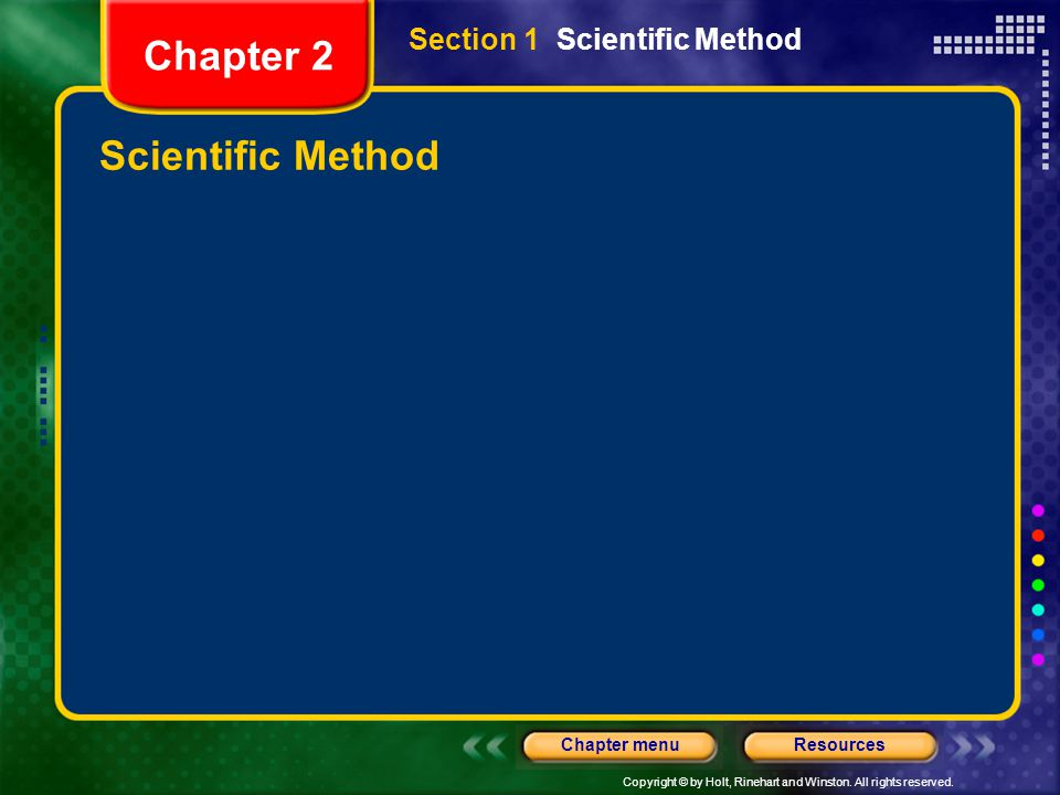 Section 1 Scientific Method