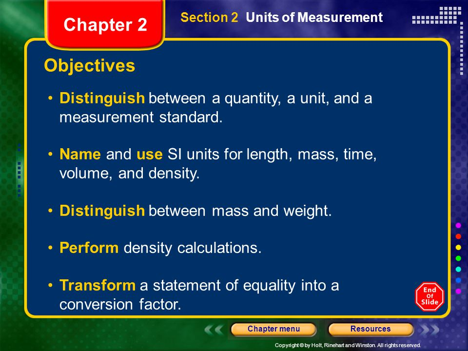 Section 2 Units of Measurement