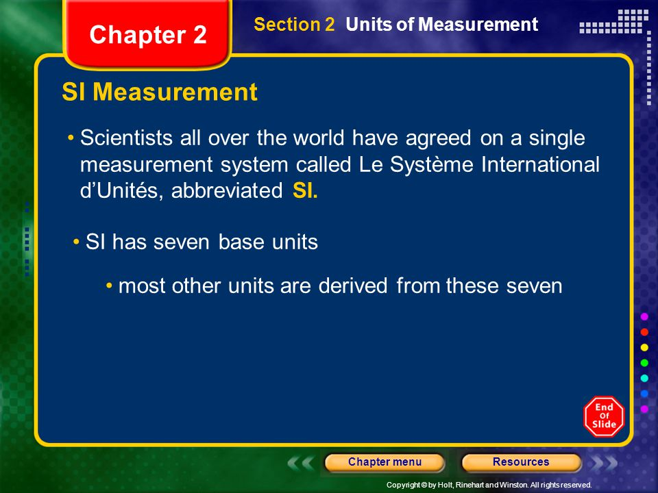 Chapter 2 SI Measurement