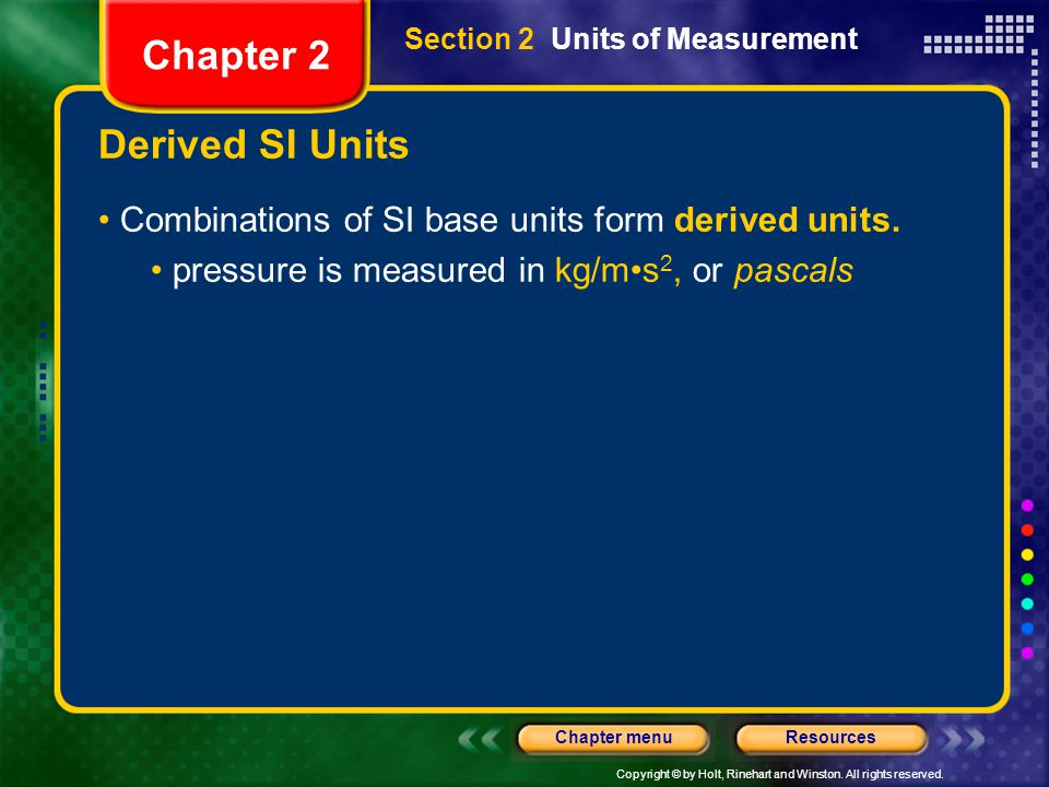 Chapter 2 Derived SI Units