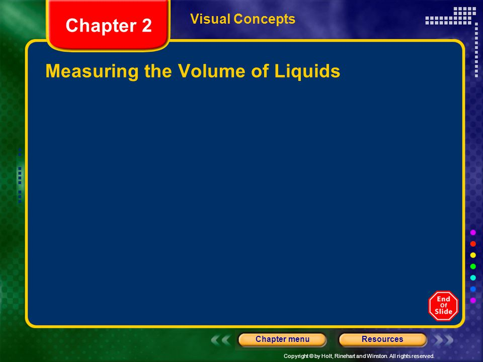 Measuring the Volume of Liquids
