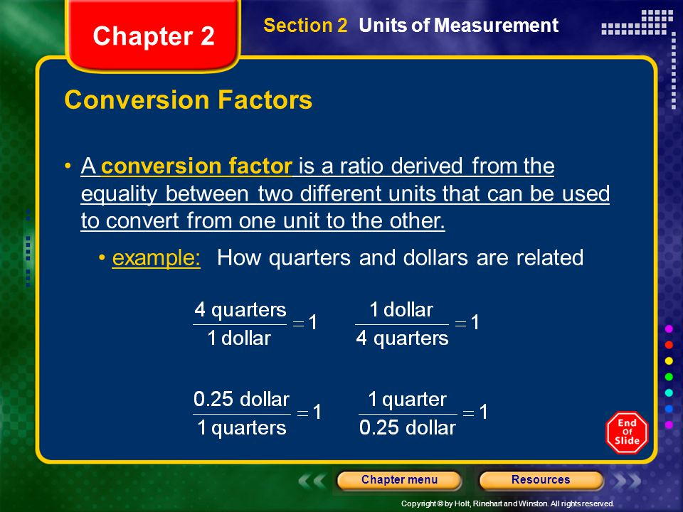Chapter 2 Conversion Factors