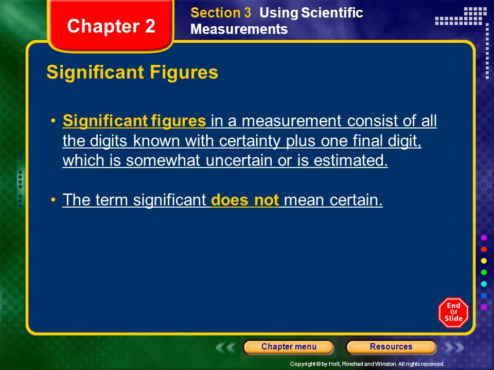 Chapter 2 Significant Figures