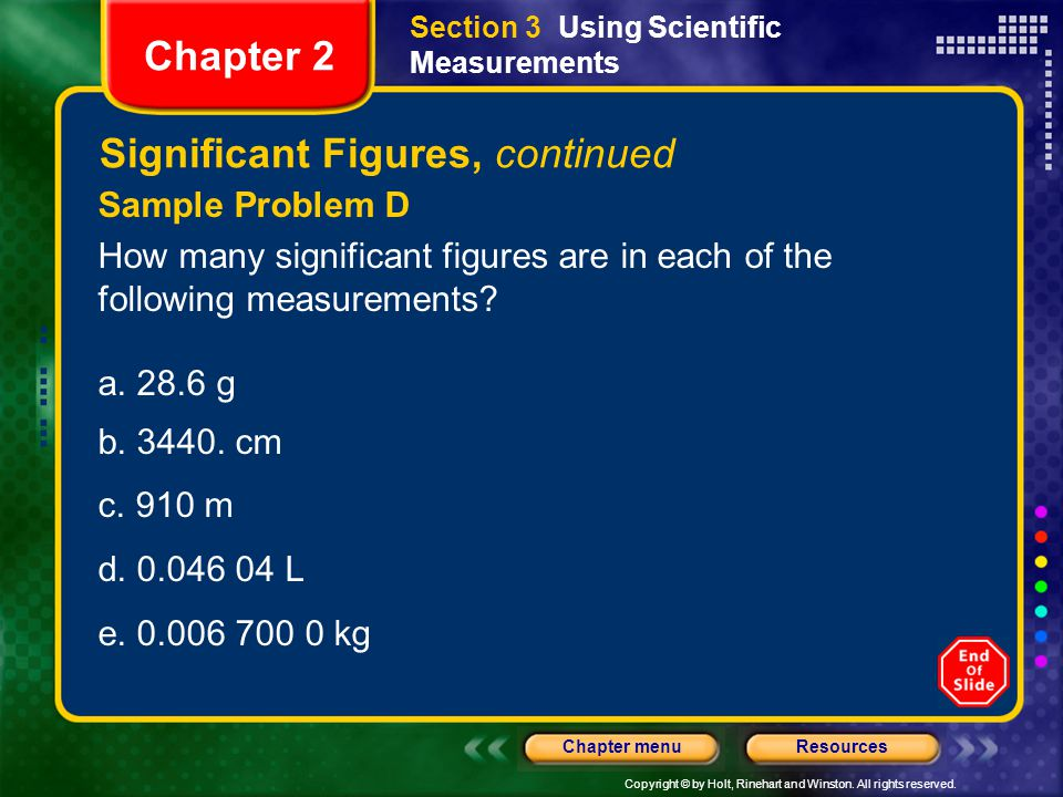 Significant Figures, continued