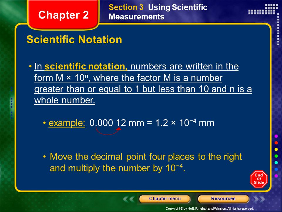 Chapter 2 Scientific Notation