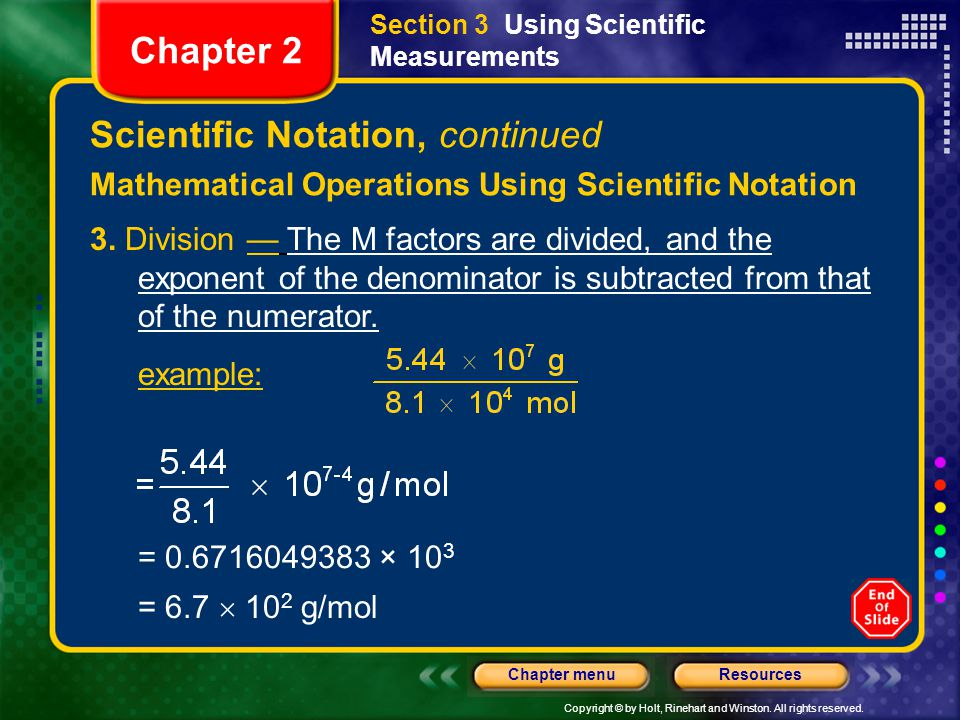 Scientific Notation, continued