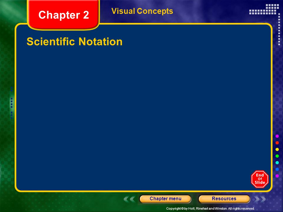Visual Concepts Chapter 2 Scientific Notation