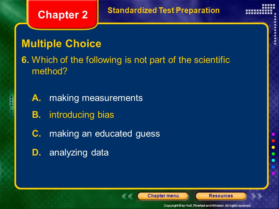 Chapter 2 Multiple Choice