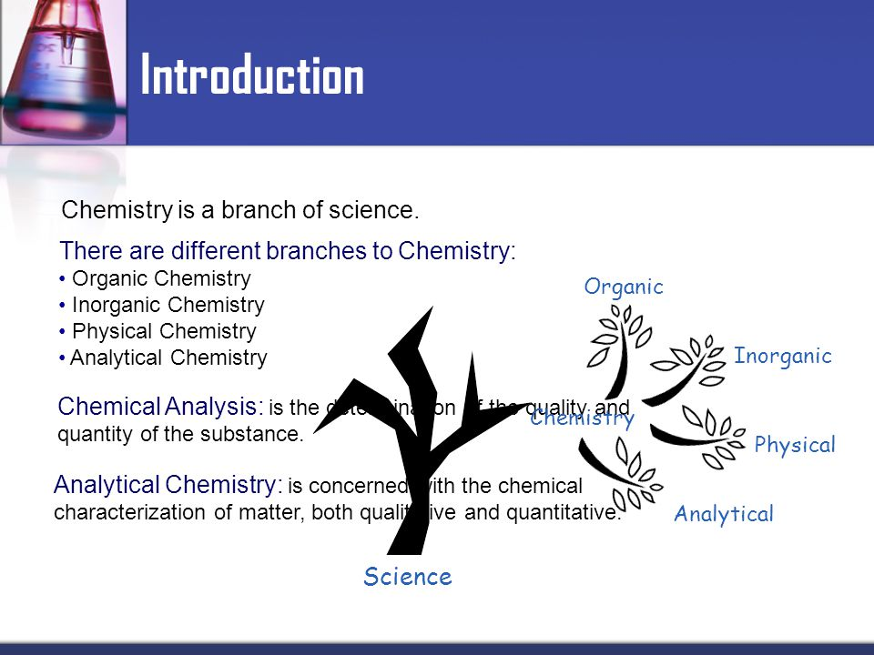 Introduction Chemistry is a branch of science.