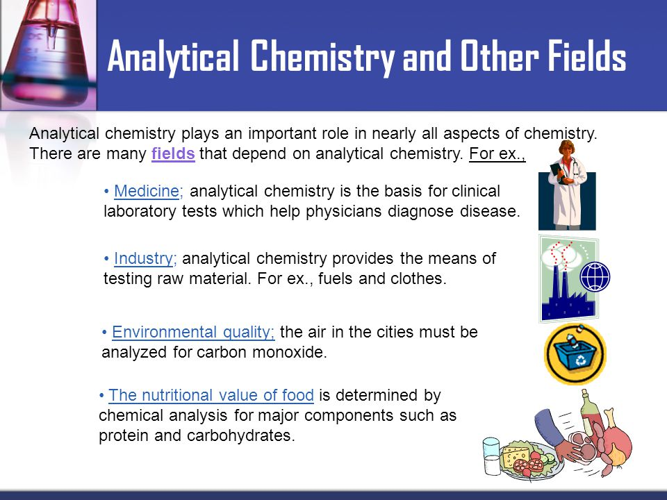 an analysis of a career in the chemistry field Home career planning careers by major chemistry data analysis, electrovaya inc ecohydrology lab and field assistant.