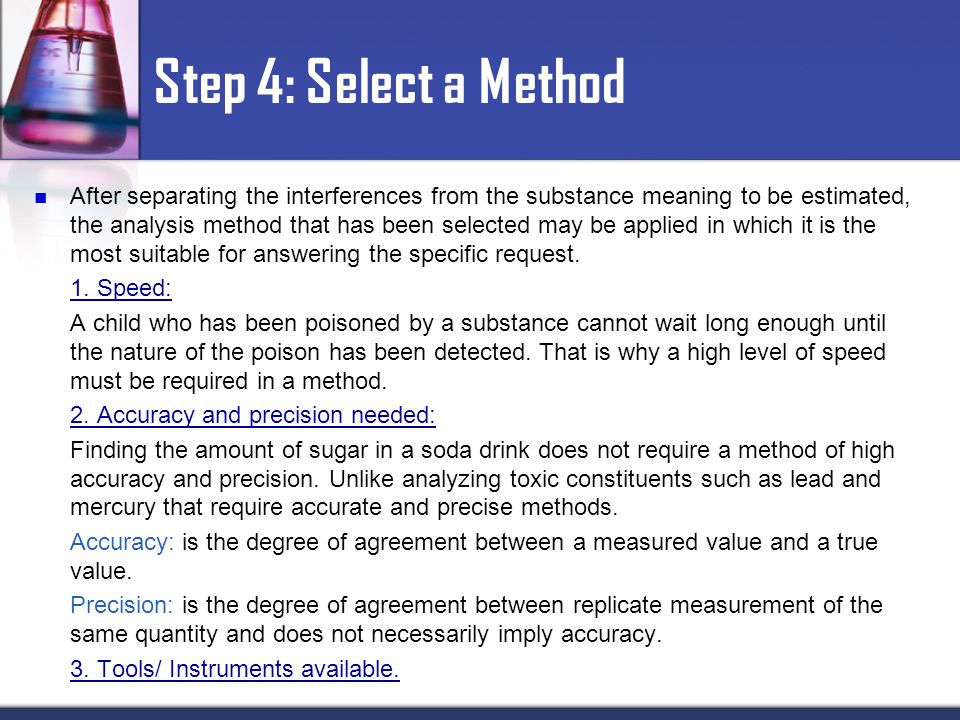 Step 4: Select a Method