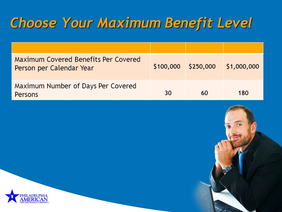 Choose Your Maximum Benefit Level .