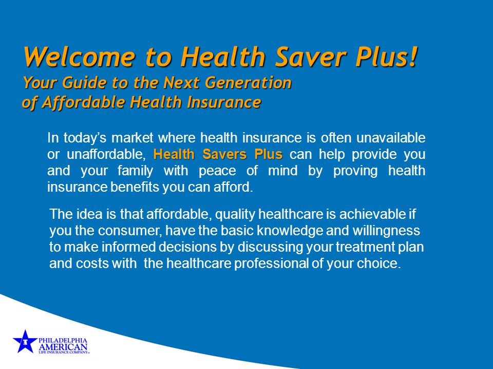 Welcome to Health Saver Plus!