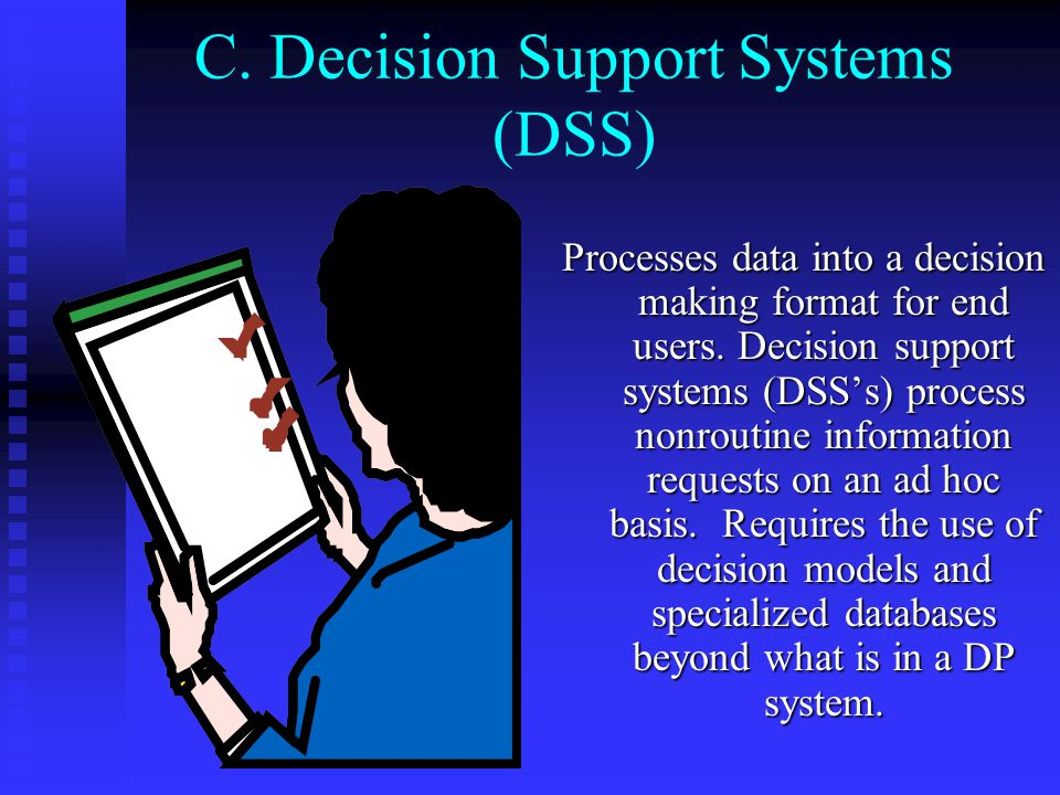 C. Decision Support Systems (DSS)