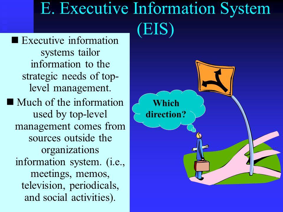 E. Executive Information System (EIS)