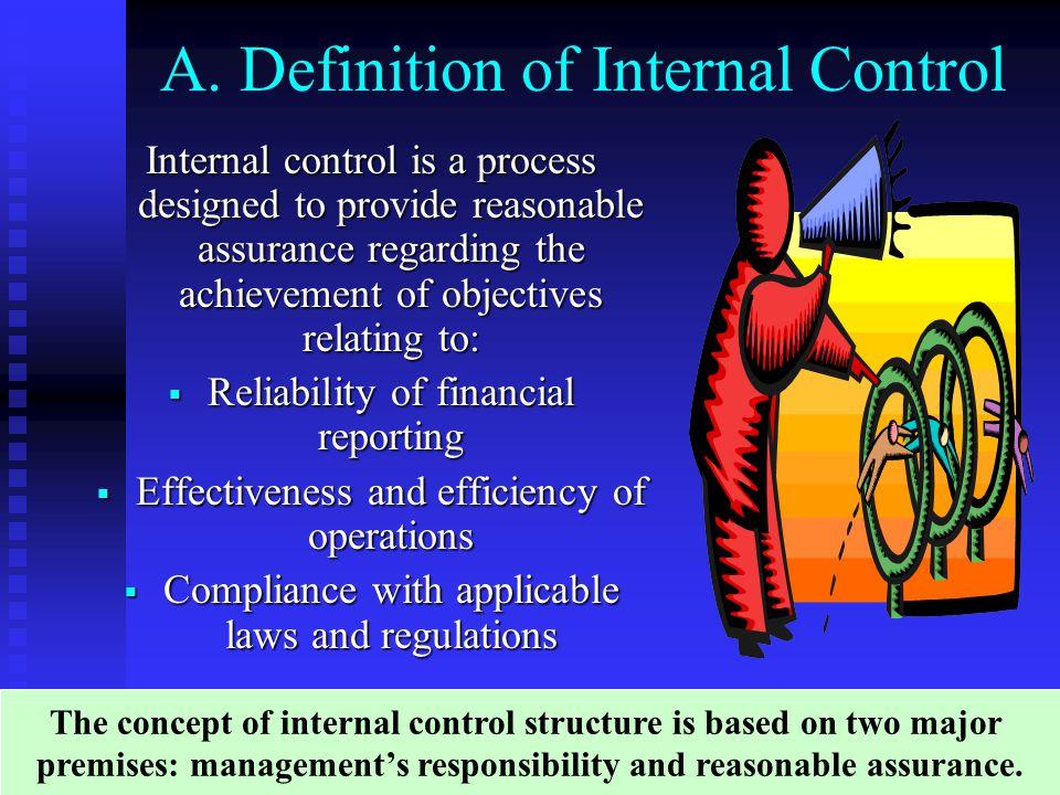 A. Definition of Internal Control