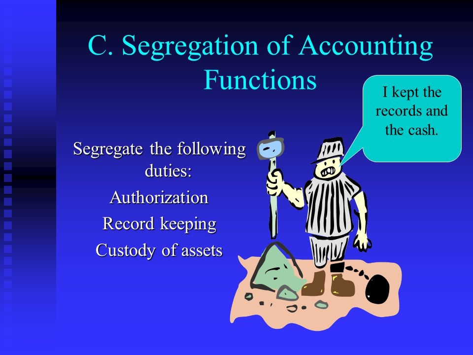 C. Segregation of Accounting Functions