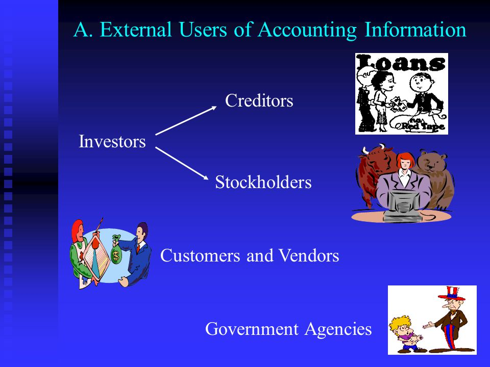 users of accounting information for a university As a means of enhancing the accounting information systems of business   addressed in the conclusion the users of accounting information are identified  and.