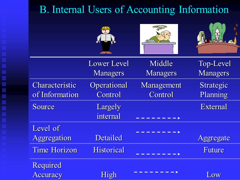 B. Internal Users of Accounting Information