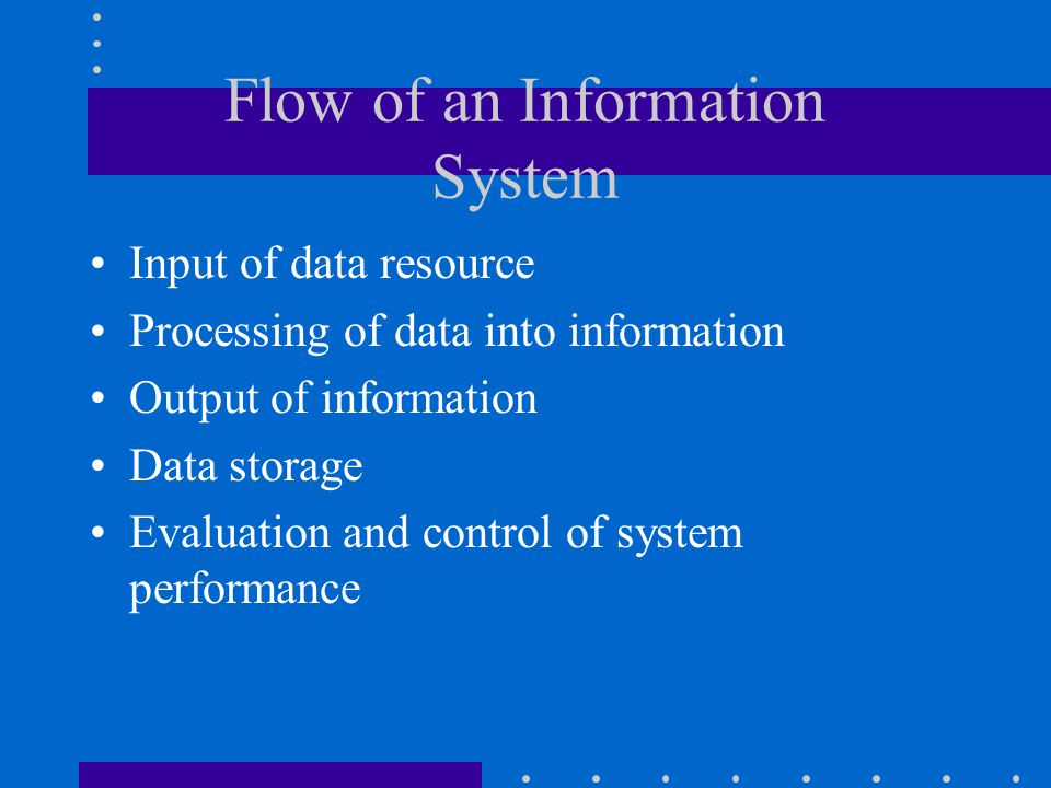 Flow of an Information System