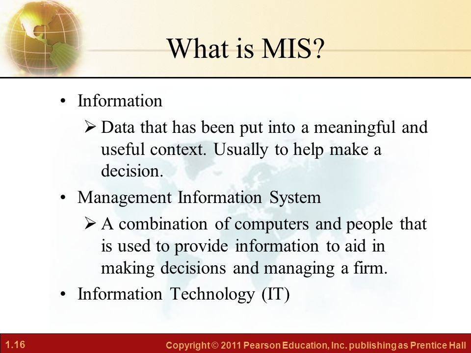 Management Information Systems (MIS) vs Information Technology (IT)