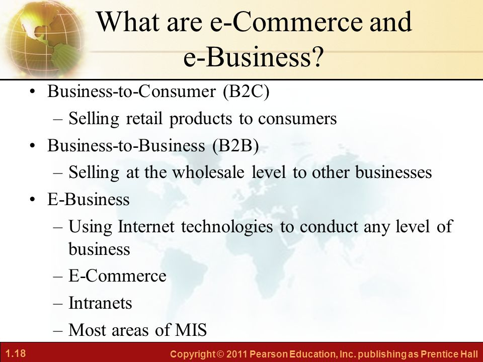 What are e-Commerce and e-Business