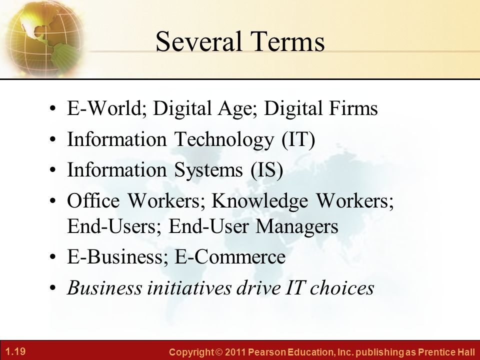 Several Terms E-World; Digital Age; Digital Firms