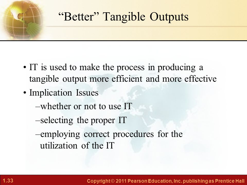 Better Tangible Outputs