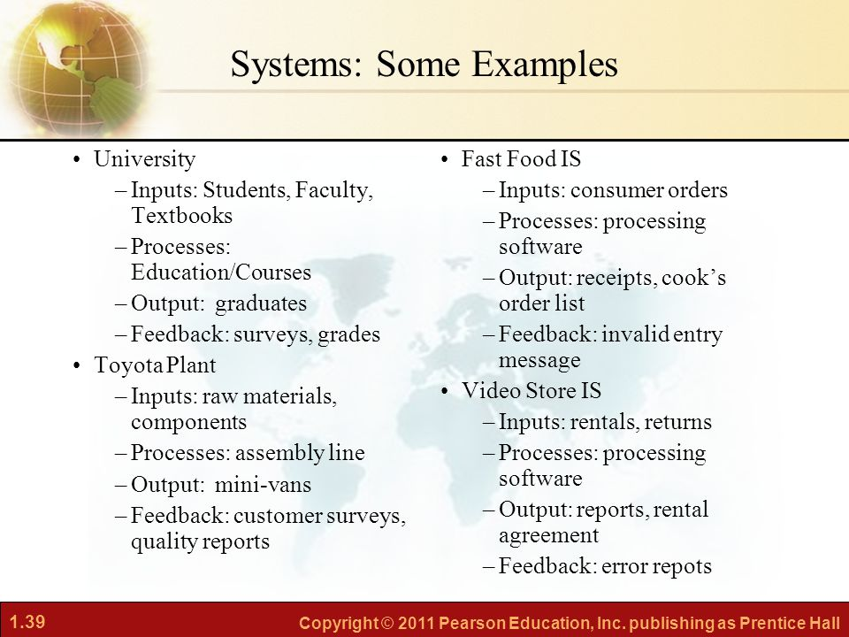 Systems: Some Examples
