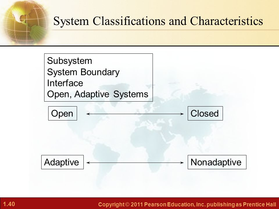 System Classifications and Characteristics