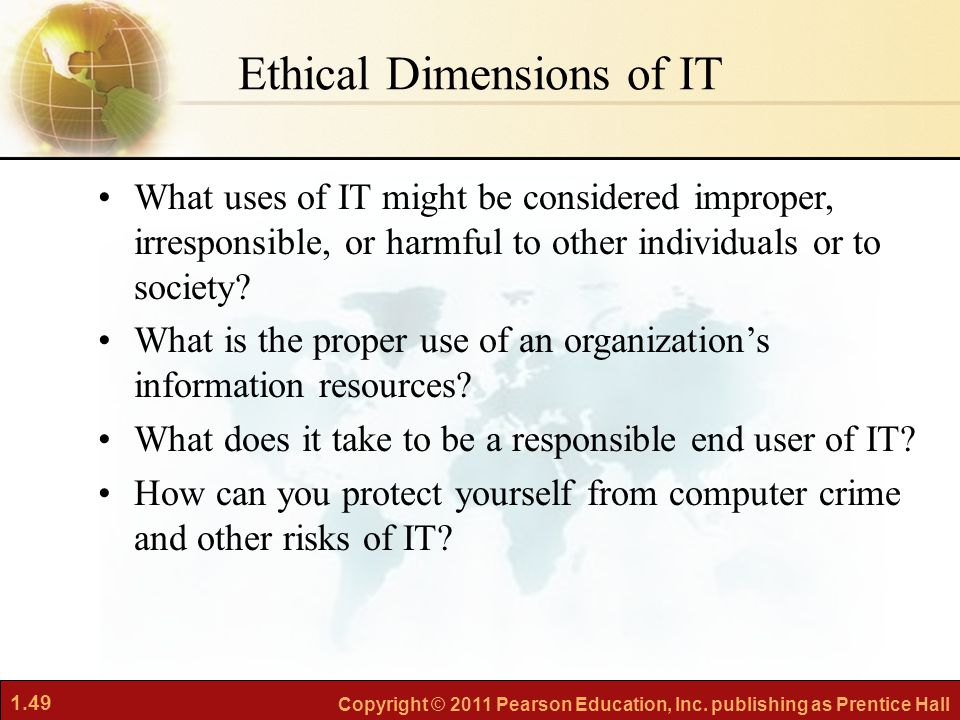 Ethical Dimensions of IT