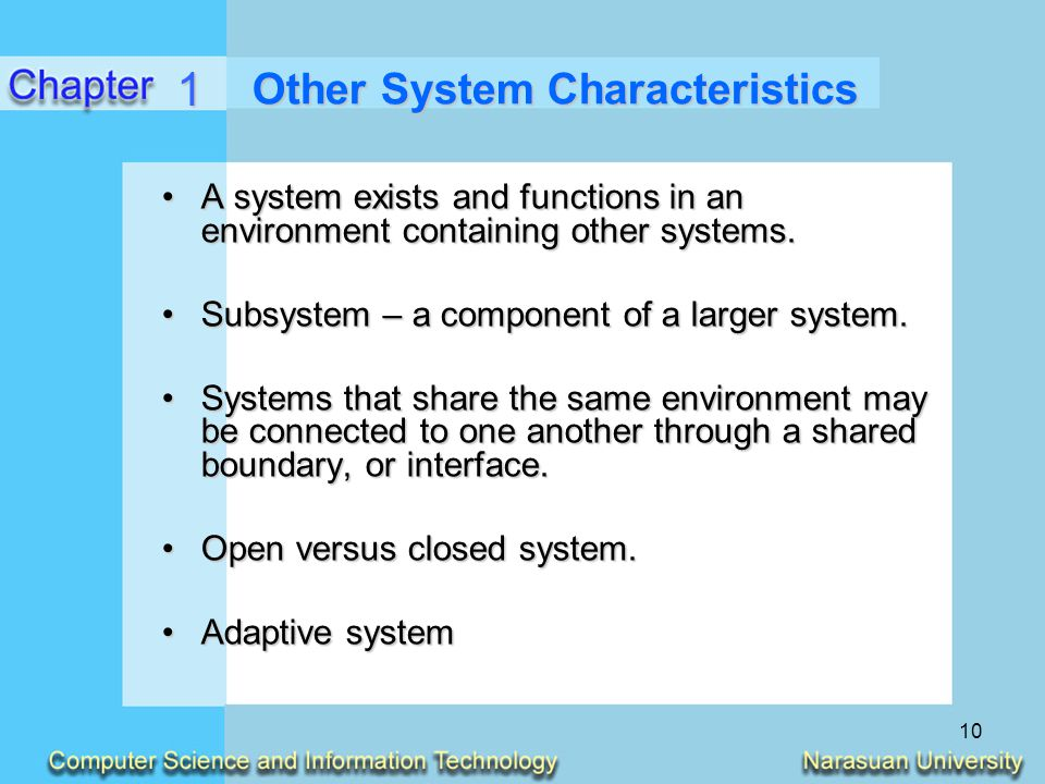 Other System Characteristics