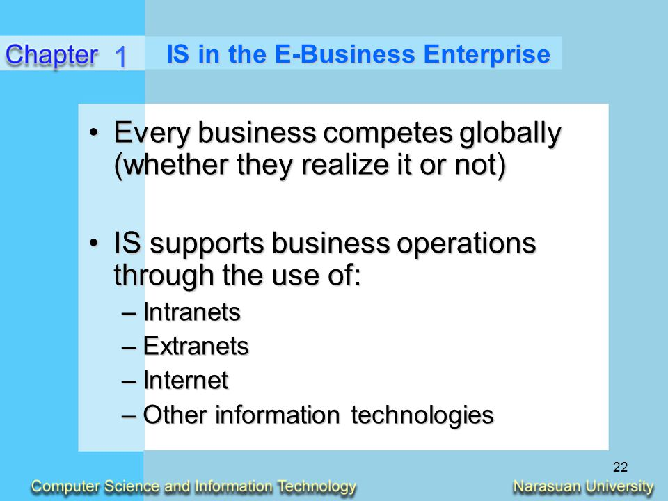 IS in the E-Business Enterprise