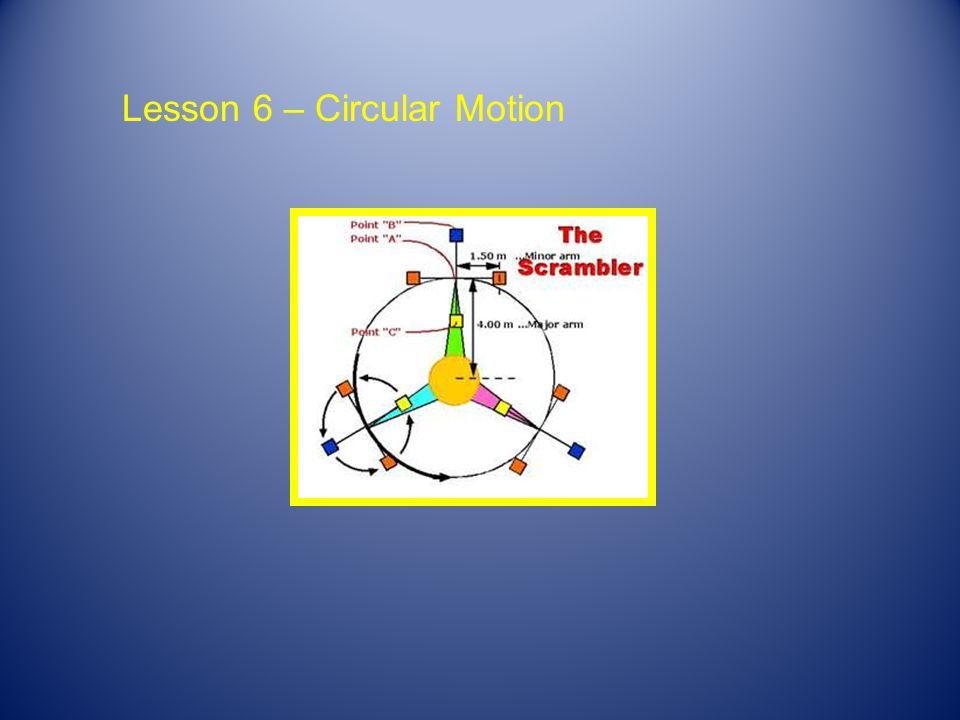 Lesson 6 – Circular Motion