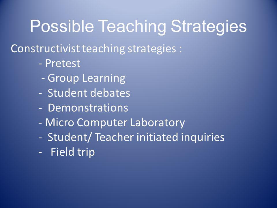 Possible Teaching Strategies